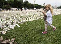 """""""One Million Bones"""" (art installation) An article highlighting a 2013 art installation in Washington D.C. """"meant to symbolize a mass grave and is a visible petition for bold action toward an end to genocide and mass atrocities."""""""