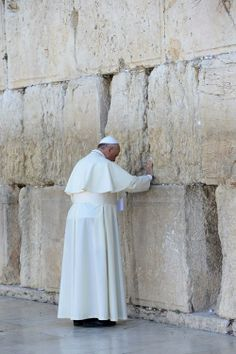 Pope Francis at the Western Wall. (5/25/14) Pope Francis invited the Israeli and Palestinian presidents to come to the Vatican to pray for an end to the enduring conflict.