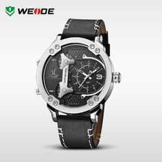 From 60% off! WEIDE universe 3 time zones sport men original leather strap watches. #watches #men #fashion #accessories http://www.aliexpress.com/store/product/WEIDE-Universe-3-Time-Zones-Watch-Men-Sport-Water-Resistant-3ATM-Men-s-Quartz-Movement-Military/910933_32482990693.html