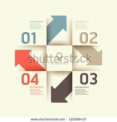 Modern Design Template / Can Be Used For Infographics / Numbered Banners / Horizontal Cutout Lines / Graphic Or Website Layout Vector - 125289437 : Shutterstock