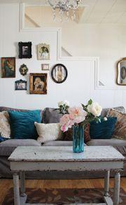 Ikea Ektorp Sofa + Comfort Works Velvet Slipcover = Beautiful - Pretty Petals
