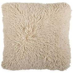 With its ultra-plush, shaggy exterior and light-hearted neutral hue, this pillow is totally groovy, baby. It's a cool addition to your bed or sofa. Brown Pillows, Couch Pillows, Oversized Throw Pillows, Pillow Sale, Shaggy, Decorative Pillows, Living Room, Apartment Living, Neutral