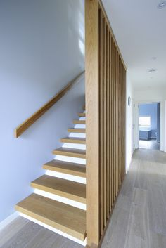 Rhue - Rural Design Architects - Isle of Skye and the Highlands and Islands of Scotland Banisters, Stair Railing, Wooden Staircases, Stairways, Whole House Ventilation, Haus Am See, Two Storey House, Modern Stairs, Interior Stairs