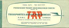 Vintage TAP ticket Travel Tickets, Airline Tickets, Identity, Retro Vintage, Vintage Airline, Airline Logo, Best Ads, Branding, Cheap Tickets