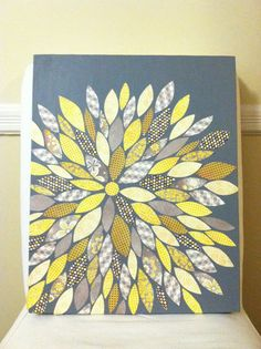 Scrapbook Paper Canvas Art (Not an original idea, obviously) maybe paint solid colors and pattern them with henna designs