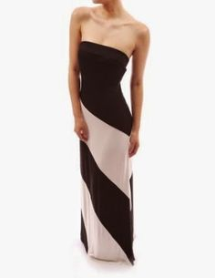 black and white maxi dress: Black And White Striped Maxi Dress