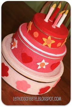 DIY play birthday cake