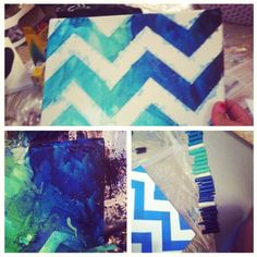Chevron Design + Crayon Melting Art = Match Made in Heaven! Must try! Diy Arts And Crafts, Cute Crafts, Creative Crafts, Diy Crafts, Crafty Craft, Crafty Projects, Diy Projects To Try, Crafting, Crayon Crafts