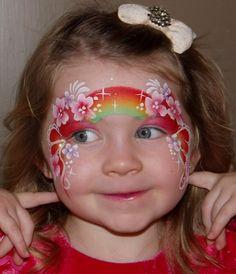 Beautiful floral rainbow face