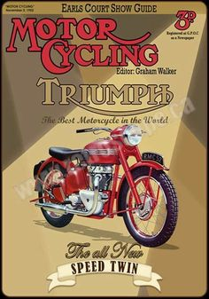 Vintage Motorcycles 327073991688387295 - Terry Macdonald Source by dubsjp Retro Advertising, Vintage Advertisements, Vintage Ads, Vintage Posters, Vintage Logos, Vintage Trends, Triumph Bikes, Triumph Motorcycles, Vintage Motorcycles