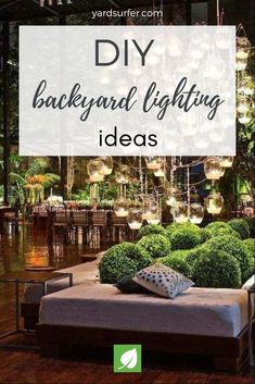 Welcome to our photo gallery featuring  Ideas.  Backyards can retain their beauty even after the sun goes down when backyard lighting is used effectively. The time and money you invest in patio furniture and other decor is meaningless if you can't see or use it at night. Backyard lights add a degree of majesty and dimension that illuminate your yard any hour of the day.  15 Amazing DIY Backyard Lighting Ideas  #diy #backyard #lighting #gardens