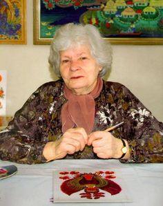 Petrykivka painting.Martha Ksenofontova Timchenko (1922 -2009)