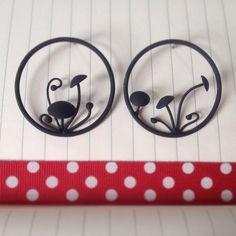 Woodland toadstool earrings by bykateselene on Etsy, £45.00