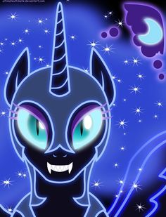 Neon Nightmare Moon by ~ZantyARZ on deviantART