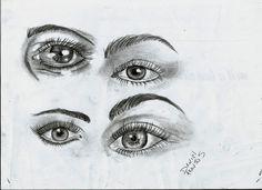 Estudo de Olhos Rabisco 6b = D