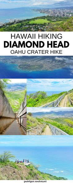 Best Oahu hikes with views of Waikiki Beach: Diamond Head Hike! For US hiking trails in Hawaii, tons of hikes on Oahu to choose on Hawaii vacation! Doing best hiking trails on Oahu gives things to do with nearby beaches for swimming, snorkeling, and to see turtles! Planning tips for this crater hike trail summit near Waikiki, Honolulu with what to wear hiking in Hawaii and what to pack for Hawaii packing list. Outdoor travel destinations for bucket list, budget adventures! #hawaii #oahu