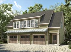 3 Bay Carriage House Plan with Shed Roof in Back - 36057DK | Carriage, 2nd Floor Master Suite, CAD Available, PDF | Architectural Designs