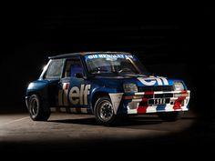 Renault 5 Turbo 2 Rally Car de 1981 conducido por Jean Ragnotti en la copa de Europa.