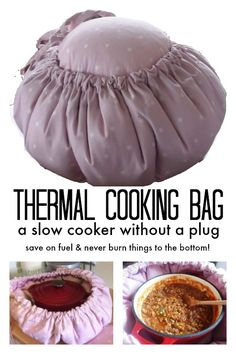 Tired of burning things to the bottom of your slow cooker? Wish you could save on the cost of electricity? The Thermal Cooking Bag is the perfect solution! Easy, frugal and long lasting, it slow cooks delicious meals while you go about your day.