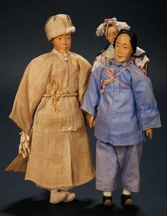 Love, Shirley Temple, Collector's Book: Lot # 316.3 Chinese Wooden Family from Door of Hope Mission