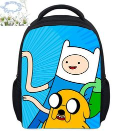 Good price 13Inch Adventure Time Backpack Mochila Masculina Finn Jake Boys Girls Children Mochila Escolar Gift Kids Free Shipping C104 just only $16.37 with free shipping worldwide  #backpacksformen Plese click on picture to see our special price for you