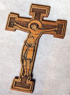 Crucifix Laser Wood cut
