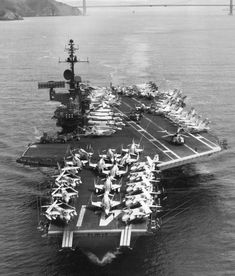 The carrier Midway (CVA underway in the Western Pacific with embarked. General Motors, New Battleship, Stages Of A Butterfly, Naval Aviator, Us Navy Seals, Sea Crafts, United States Navy, Navy Ships, Military Equipment
