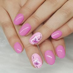 Csajos szalonvirágok CrystaLac-kal, Royal Gel-lel és One Move akrilfestékekkel Royal Gel, Pink Nails, Image Search, Beautiful, Addiction, Strong Nails, Pink Nail
