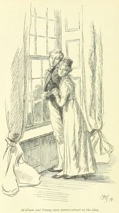 Jane Austen Mansfield Park - William and Fanny were horror-struck at the idea People Illustration, Antique Illustration, Illustration Art, Book Illustrations, Jane Austen Mansfield Park, Hampshire, Tarot, Colored Pencil Artwork, Couple Sketch