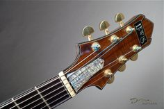 1998 Michael Lewis Guitars Archtop Hollowbody headstock