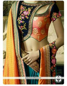 Heres the best new blouse styles - sexy blouse, traditional blouses, lehenga blouse and latest saree blouses to flaunt your best features for your body type Choli Designs, Sari Blouse Designs, Fancy Blouse Designs, Designer Blouse Patterns, Bridal Blouse Designs, Blouse Styles, Latest Blouse Designs, Designer Saree Blouses, Stylish Blouse Design