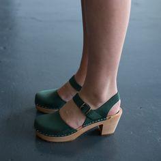 978 funkis clog high camilla green suede, clog, clogs, Sweden, swedish, design, designer, fashion, shoes, shoe, wood, wooden, fashion, Scandinavian, funkis, funkis australia