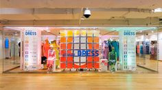 UNIQLO 5TH AVE. Store April to May, 2013 – Installation #installation #uniqlo #spacial