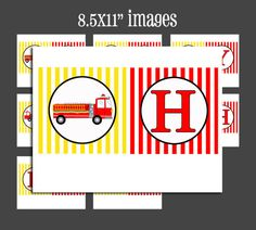Automatic Download  Happy Birthday Firetruck by ThatPartyChick, $12.00 Printable Banner, Printables, Fireman Party, Firefighter Birthday, Bunting Banner, Fire Trucks, 4th Birthday, Letters, Rivers