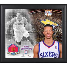 """Michael Carter-Williams Philadelphia 76ers Fanatics Authentic Framed 15"""" x 17"""" Mosaic Collage with Team-Used Basketball-Limited Edition of 99 - $89.99"""