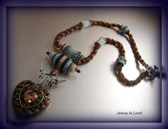 """Heather"" - Bead woven necklace - by TrinityDJ"