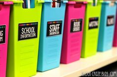 great ideas for classroom organization!