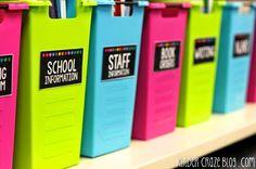 great ideas for classroom organization!