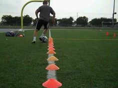 First Touch 8 cone: bells, inside outside, one foot-other foot, scissor, rolls