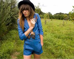 What could be cooler than a high-waisted shorts suit and a top hat?  Lou Doillon wearing said items.