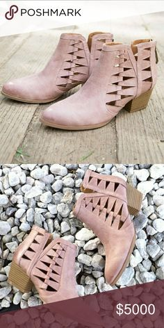 Coming Soon!!!  Blush Cut-out Ankle Booties Like this listing and be notified once these adorable, must have booties are available for purchase! Shoes Ankle Boots & Booties