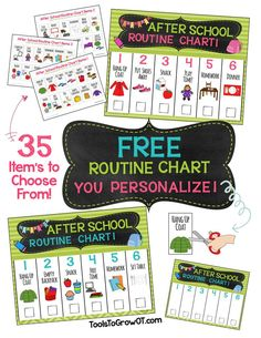 After School Routine Charts - visual reminders/pictures designed to increase your child's independence for completing sequenced tasks and keeping belongings where they belong.
