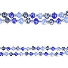 Bead Gallery® Faceted Glass Beads, Blue Mix