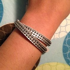 Silver colored Wrap Bracelet silver colored studded wrap bracelet Jewelry Bracelets