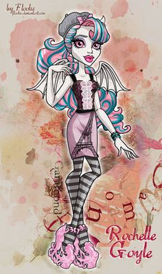 Monster High: Rochelle Goyle/Scaris City of Frights by Flooks on deviantART