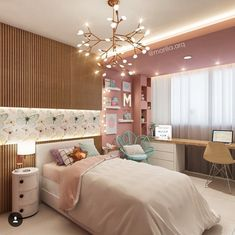 30 Teen Girl Bedroom Decor Ideas - The Wonder Cottage Bedroom Decor For Teen Girls, Cute Bedroom Ideas, Girl Bedroom Designs, Teen Girl Bedrooms, Awesome Bedrooms, Small Bedrooms, Simple Girls Bedroom, Teen Bedroom Colors, Kids Bedroom