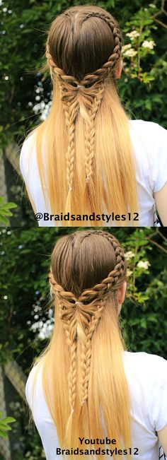 Butterfly Braid by Braidsandstyles12  Youtube Channel : https://www.youtube.com/channel/UC8ouEGIBm1GNFabA_eoFbOQ Hairstyles, Butterly, Braids long hair,