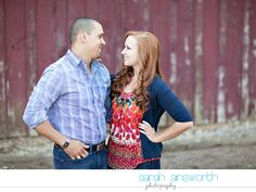 Open field, rustic engagement pictures