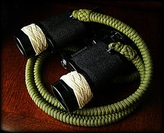 paracord strap attached to my binoculars