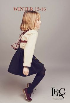 High quality fabrics from France, Italy, UK and Japan are used for Leoca Paris fall 2015 kids fashion